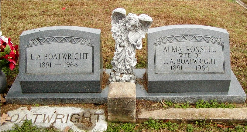 Leroy Alexander Boatwright and Theresa Alma Rossell Gravestone