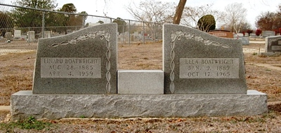 Linard Lesley and Ella Boatwright Gravestone