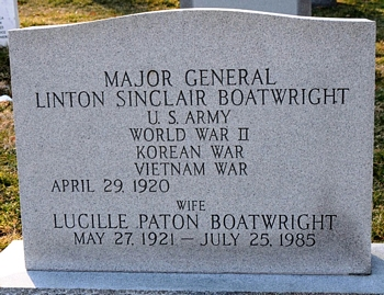 Linton Sinclair and Lucille Paton Boatwright Gravestone