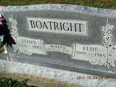 Lloyd and Elsie Burlison Boatright Gravestone