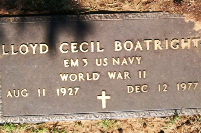 Lloyd Cecil Boatright Gravestone