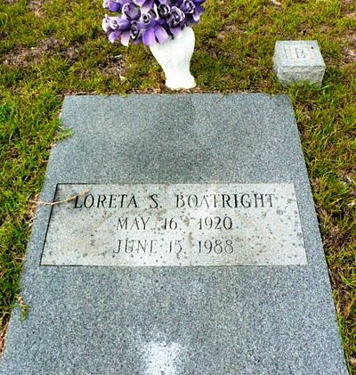 Loreta Shepherd Boatright Gravestone