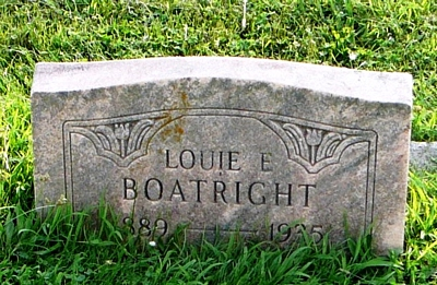 Louis Earl Boatright Gravestone