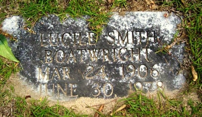 Lucille Smith Boatwright Gravestone