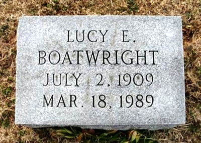 Lucy E. Boatwright Marker