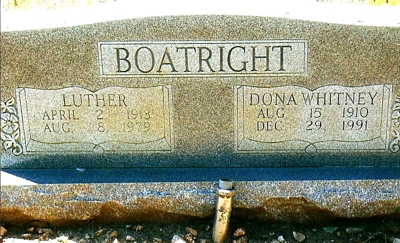 Luther W. and Donna Whitney Boatright Gravestone