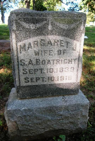 Margaret Jane Bryan Boatright Gravestone