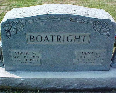 Marion Virgil and Dena E. Hobman Boatright Gravestone