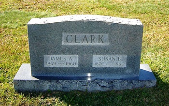 Martha Susan Boatwright and James A. Clark Gravestone