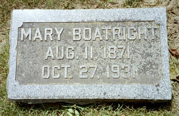 Mary Frances Boatright Marker