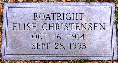 Mary Elise Christensen Boatright Marker