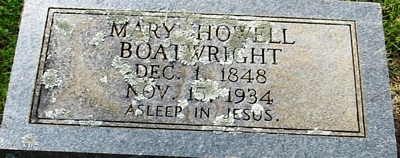 Mary Howell Boatwright Gravestone