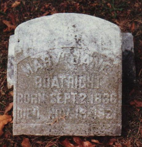 Mary Jane Boatright Gravestone