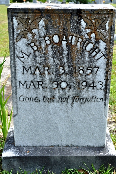 Matthew Brinson Boatright Gravestone: