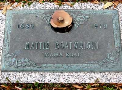 Mattie Beard Boatwright Marker