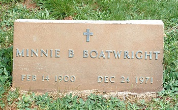 Minnie B. Boatwright Marker