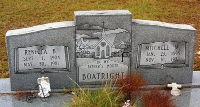 Mitchell Melton and Rebecca Boatright Gravestone