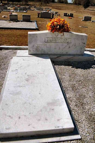 Monroe Allen Boatright Gravestone
