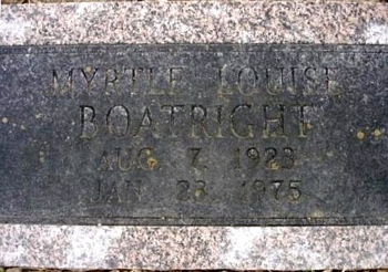 Myrtle Louise Boatright Marker