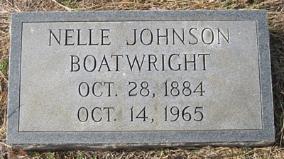 Nellie Johnson Boatright Gravestone