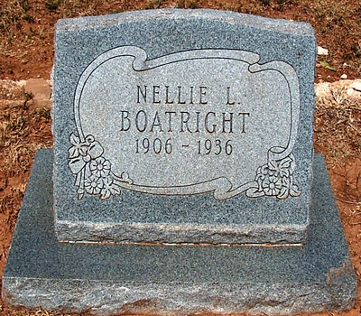 Nellie L. Boatright Gravestone