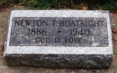 Newton Thomas Boatright Gravestone