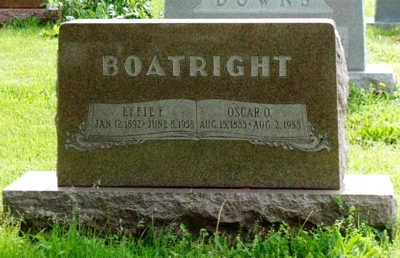 Oscar Oliver and Effie F. Blacksher Boatright Gravestone