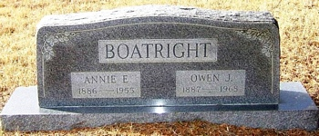 Owen Jasper Boatright and Anna Elizabeth Powell Gravestone