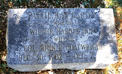 Patty Ray Carter Boatwright Marker