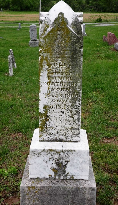 Polly Gasaway Boatright Gravestone