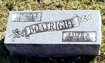 Ralph W. Boatright Gravestone