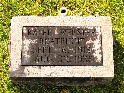 Ralph Webster Boatright Gravestone