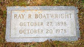 Ray Ranson Boatwright Marker