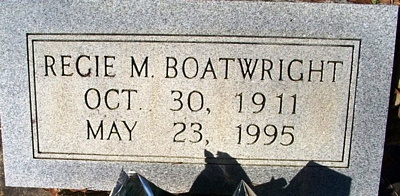 Recie Maybelle McArthur Boatwright Gravestone