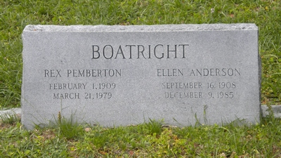 Rex Pemberton Boatright and Nancy J. Richey Gravestone