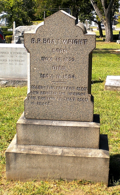 Richard Pendleton Boatwright Gravestone