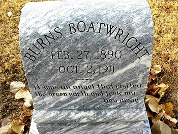 Robert Burns Boatwright Gravestone