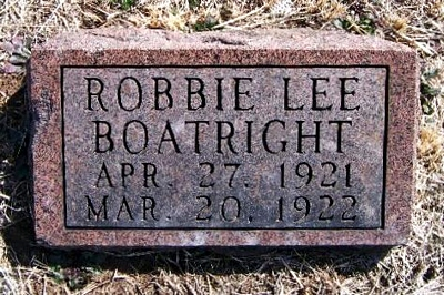 Robbie Lee Boatright Marker