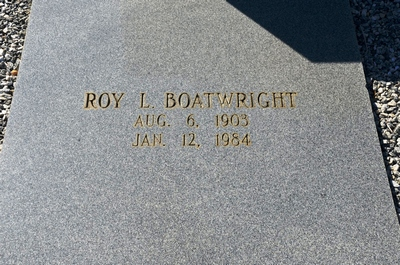 Roy L. Boatwright Gravestone