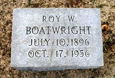 Roy Wilson Boatwright Marker