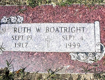 Ruth Wade Boatright Marker