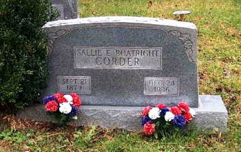 Sallie E. Boatright Gravestone