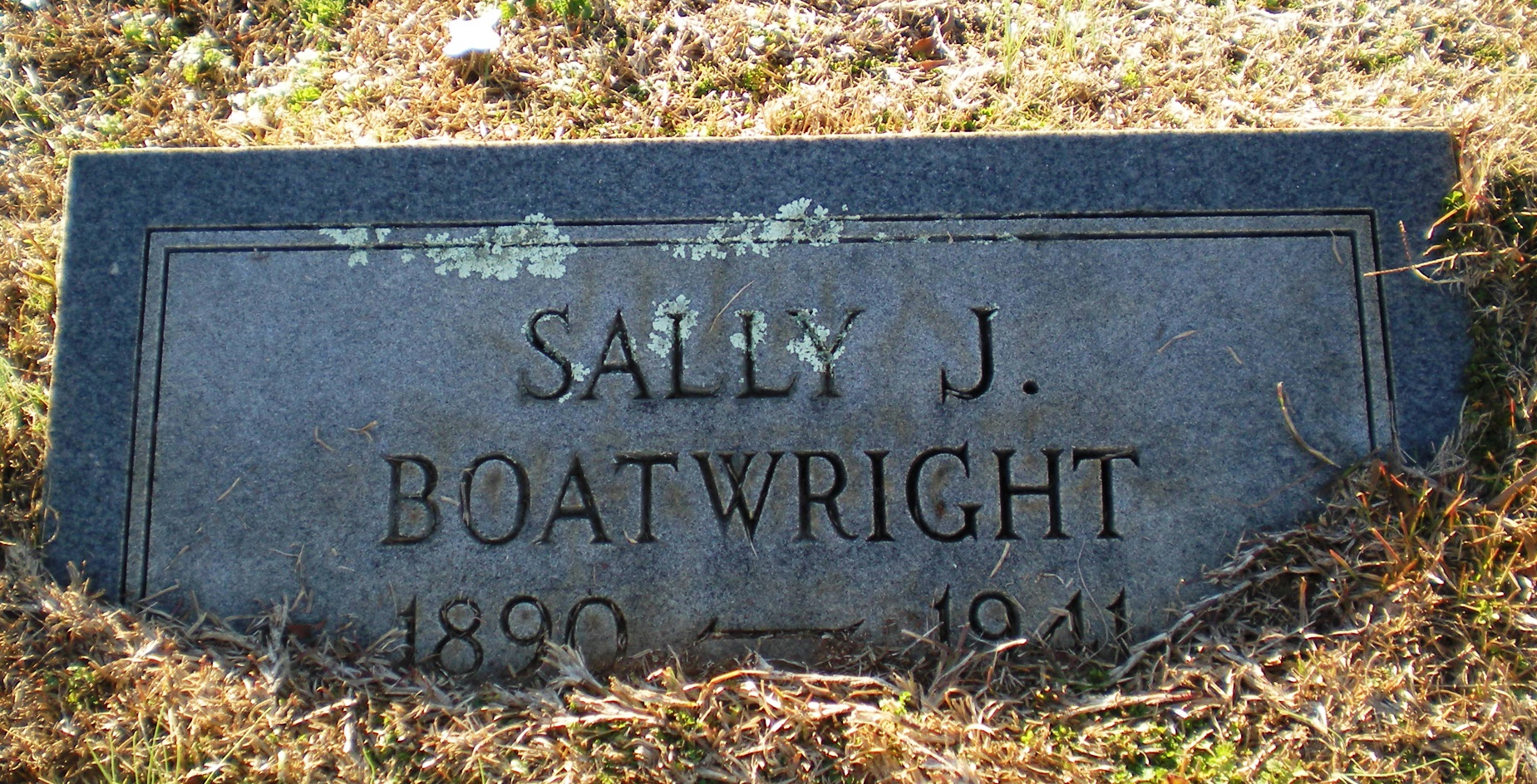 Sarah Sally Jennings Boatwright Gravestone