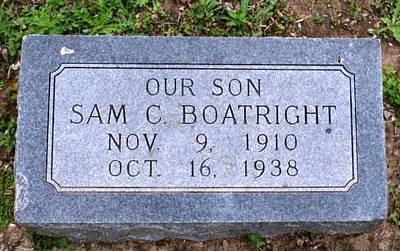 Samuel C. Boatright Gravestone