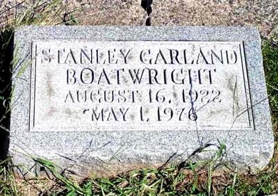 Stanley Garland Boatwright Marker