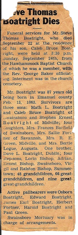 Steve Boatright Obit