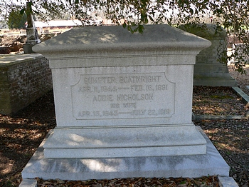 Sumpter Boatwright and Maria Adeline Addie Nicholson Gravestone