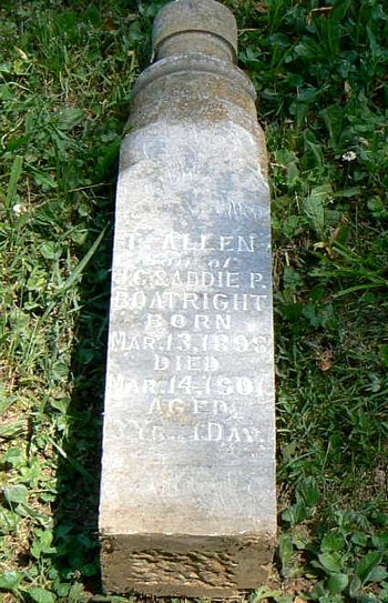 T. Allen Boatright Gravestone