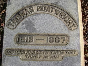 Thomas Boatwright Gravestone