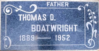 Thomas Dickerson Boatwright Gravestone